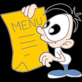 Raubíř menu
